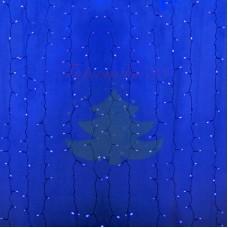 """""""Светодиодный Дождь"""" 2х1,5м, постоянное свечение, прозрачный провод, диоды СИНИЕ, NEON-NIGHT"""