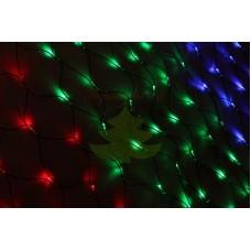"""Гирлянда """"Сеть"""" 2x1,5м, черный КАУЧУК, 288 LED Мультиколор, 230 В"""