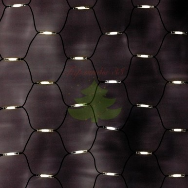 """Гирлянда """"Сеть"""" 2x1,5м, черный КАУЧУК, 288 LED ТЕПЛЫЙ БЕЛЫЙ, 230 В"""