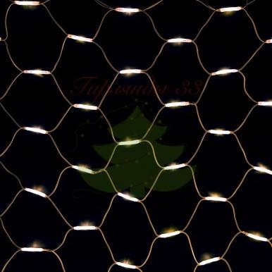 """Гирлянда """"Сеть"""" 2x3м, белый КАУЧУК, 432 LED Белые, 230 В"""