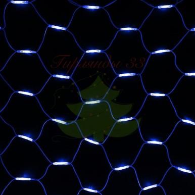 """Гирлянда """"Сеть"""" 2x3м, белый КАУЧУК, 432 LED Белые/Синие, 230 В"""