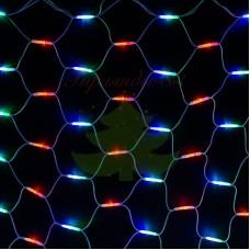 """Гирлянда """"Сеть"""" 2x3м, белый КАУЧУК, 432 LED Мультиколор, 230 В"""