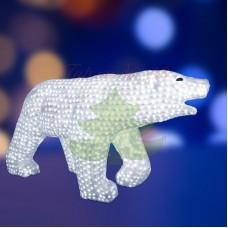 """Акриловая светодиодная фигура """"Белый медведь"""" 100х175см, 3872 светодиода, IP 44, понижающий трансформатор в комплекте"""