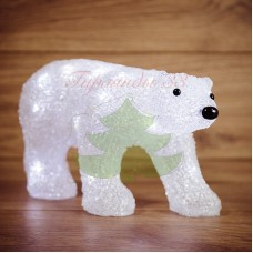 """Акриловая светодиодная фигура """"Медведь"""" 34,5х12х17 см, 4,5 В, 3 батарейки AA (не входят в комплект), 24 светодиода"""