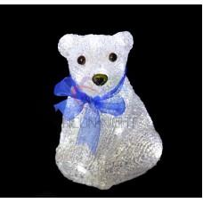 """Акриловая светодиодная фигура """"Белый мишка"""" 20 см, 4,5 В, 3 батарейки AA (не входят в комплект), 20 светодиодов"""