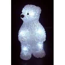 """Акриловая светодиодная фигура """"Медвежонок"""" 12х22х13 см, 4,5 В, 3 батарейки AAA (не входят в комплект), 10 светодиодов"""