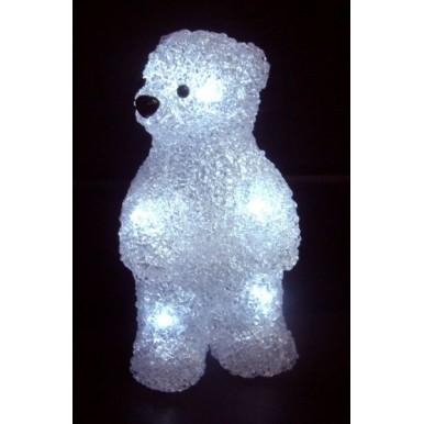 Акриловая светодиодная фигура Медвежонок 12х22х13 см, 4,5 В, 3 батарейки AAA (не входят в комплект), 10 светодиодов,NEON NIGHT