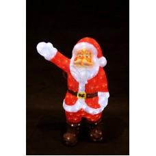 """Акриловая светодиодная фигура """"Санта Клаус приветствует"""" 60 см, 200 светодиодов, IP44 понижающий трансформатор в комплекте"""