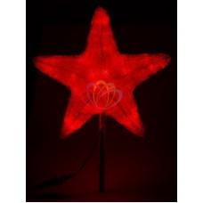 """Акриловая светодиодная фигура """"Звезда"""" 80см, 240 светодиодов, красная"""