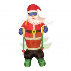 """""""Дед мороз на лыжах"""", 180 см, IP 65 с подсветкой"""