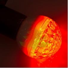 Лампа шар 50мм, 9 LED, красная 3Вт