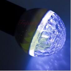 Лампа шар 50мм, 9 LED, синяя 3Вт