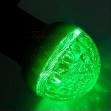 Лампа шар 50мм, 9 LED, зеленая 3Вт