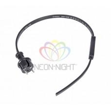 Набор для подключения гирлянды Belt-light 2W (шнур питания 1,5м с вилкой, коннектор)