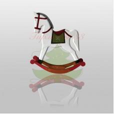 Деревянная фигурка «Игрушечный пони белый» 25х5,5х26,5 см