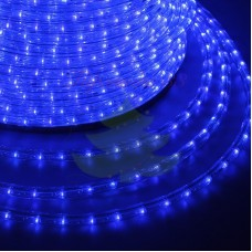 LED ДЮРАЛАЙТ, фиксинг (2W), синий 220В, диам.13мм, 24 диода/метр