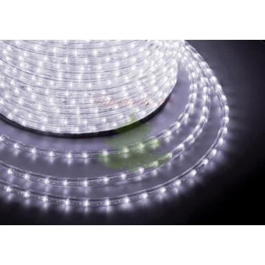 LED дюралайт плоский, чейзинг, 13 мм, белый
