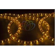 Дюралайт на лампах фиксинг, 13мм, 10м, желтый