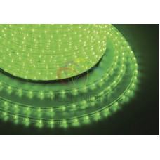 Дюралайт на лампах фиксинг, 13мм зеленый