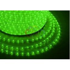 LED ДЮРАЛАЙТ, эффект мерцания(2W), зеленый, 220В, диам. 13 мм