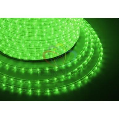 LED ДЮРАЛАЙТ, фиксинг (2W), зеленый, 220В, диам.10мм,NEON NIGHT