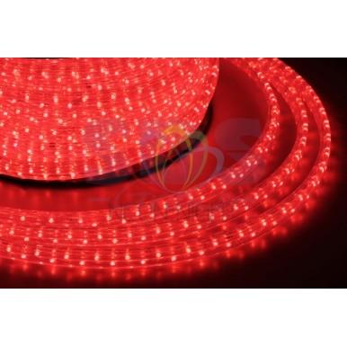 LED дюралайт плоский, чейзинг, 11*18 мм, красный,NEON NIGHT