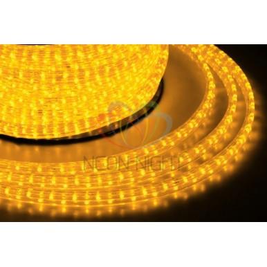 LED дюралайт плоский, чейзинг, 11*18 мм, жёлтый,NEON NIGHT