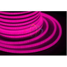 LED НЕОН 360, постоянное свечение, розовый 220В