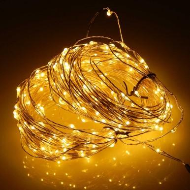 Роса светодиодная, 10 метров, желтый