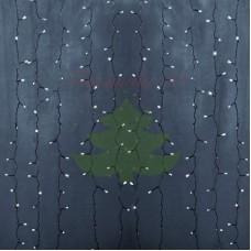 """""""Светодиодный Дождь"""" 2х1,5м, статика,прозрачный провод, диоды БЕЛЫЕ"""