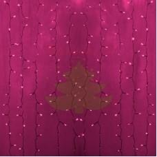 """""""Светодиодный Дождь"""" 2х1,5м, статика, прозрачный провод, диоды РОЗОВЫЕ, NEON-NIGHT"""
