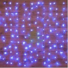 """""""Светодиодный Дождь"""" 1,5х1,5м, свечение с динамикой, прозрачный провод, диоды СИНИЕ, NEON-NIGHT"""