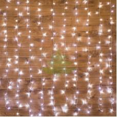 """""""Светодиодный Дождь"""" 2,5х2м, свечение с динамикой, прозрачный провод, диоды БЕЛЫЕ, NEON-NIGHT"""