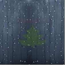 """""""Светодиодный Дождь"""" 2х3м, статика, прозрачный провод, диоды БЕЛЫЕ"""