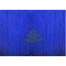 """""""Светодиодный Дождь"""" 2х6м, эффект водопада, черный провод, диоды СИНИЕ, NEON-NIGHT"""