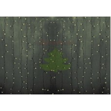 """""""Светодиодный Дождь"""" 2х9м, статика, прозрачный провод, диоды ТЕПЛО-БЕЛЫЕ, NEON-NIGHT"""