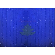 """""""Светодиодный Дождь"""" 2х1,5м, пстоянное свечение, прозрачный провод, диоды СИНИЕ, NEON-NIGHT"""