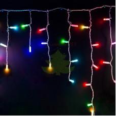 Айсикл (бахрома) светодиодный, 4,8 х 0,6 м, прозрачный провод, 230 В, диоды RGB, 176 LED NEON-NIGHT