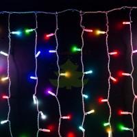 """""""Светодиодный Дождь"""" 2х3м, прозрачный провод, 230 В, диоды RGB, 600 LED свечение с динамикой"""