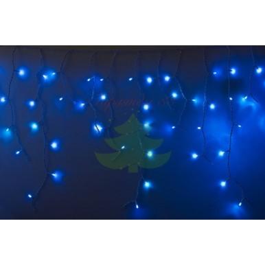 Айсикл (бахрома) светодиодный, 4,8 х 0,6 м, белый провод, диоды синие, NEON-NIGHT,NEON NIGHT