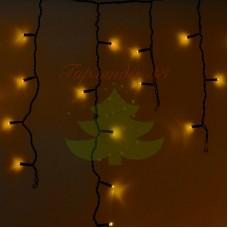 Айсикл (бахрома) светодиодный, 4,8 х 0,6 м, черный провод, диоды желтые, NEON-NIGHT