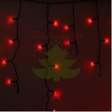 Айсикл (бахрома) светодиодный, 4,8 х 0,6 м, черный провод, диоды красные, NEON-NIGHT