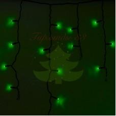 Айсикл (бахрома) светодиодный, 4,8 х 0,6 м, черный провод, диоды зеленые, NEON-NIGHT