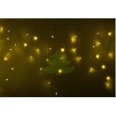 Айсикл (бахрома) светодиодный, 4,8 х 0,6 м, прозрачный провод, диоды желтые, NEON-NIGHT