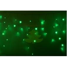 """Айсикл (бахрома) светодиодный, 5,6х0,9м, черный провод """"КАУЧУК"""", диоды зеленые, NEON-NIGHT"""
