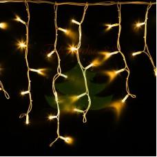 """Айсикл (бахрома) светодиодный, 4,0х0,6м, белый провод """"КАУЧУК"""", диоды желтые, NEON-NIGHT"""