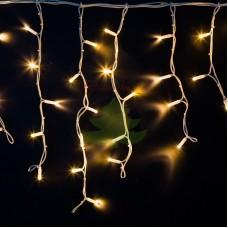 """Айсикл (бахрома) светодиодный, 4,0х0,6м, белый провод """"КАУЧУК"""", диоды тепло-белые, NEON-NIGHT"""