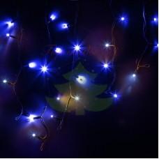 """Айсикл (бахрома) светодиодная МЕРЦАЮЩАЯ, 4,0х0,6м, черный провод """"КАУЧУК"""", диоды синие, NEON-NIGHT"""