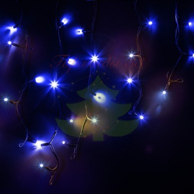 Айсикл (бахрома) светодиодный, 4,0х0,6м, черный провод КАУЧУК, диоды белые, NEON-NIGHT,NEON NIGHT