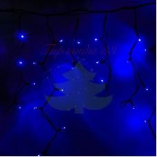 """Айсикл (бахрома) светодиодный, 5,6х0,9м, черный провод """"КАУЧУК"""", диоды синие, NEON-NIGHT"""
